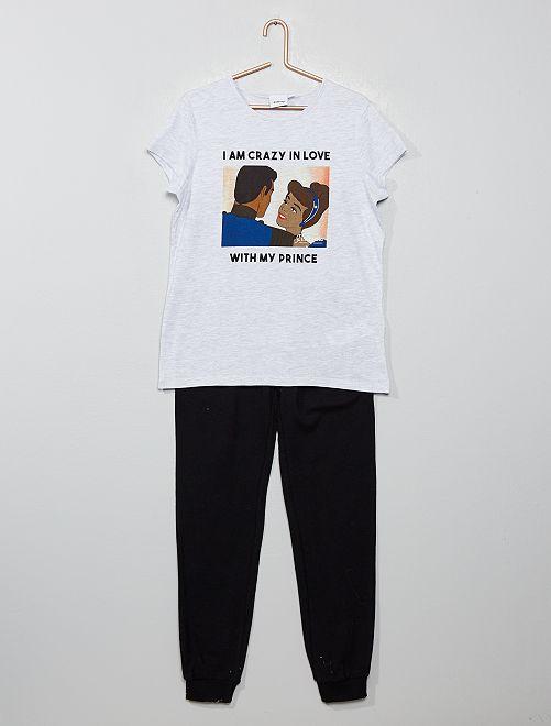 Pijama 'Cenicienta'                                                     NEGRO