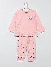 Pijama con adorno de ratón