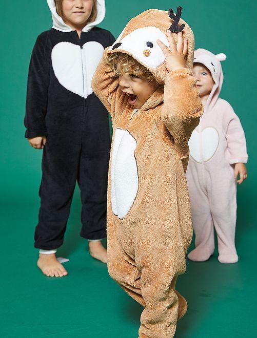 Pijama con capucha 'ciervo'                                         BLANCO