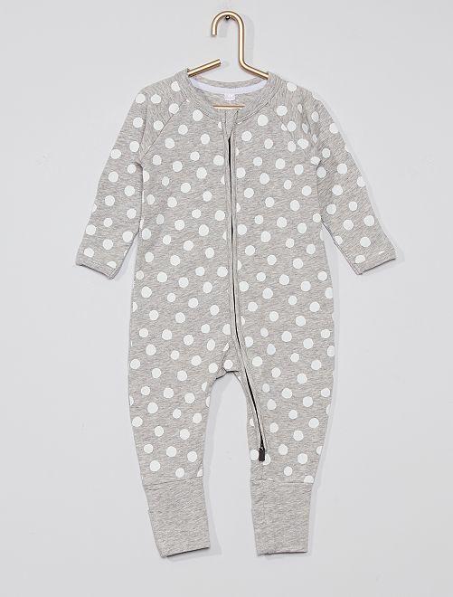 Pijama con cremallera 'DIM Baby'                                         GRIS