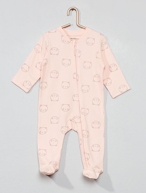 Pijama con cremallera 'gato'                                         NARANJA Bebé niña