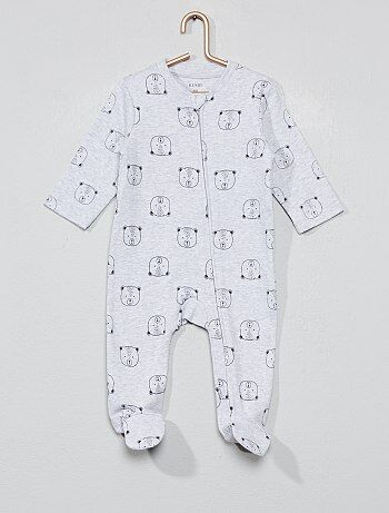 28afb1da5 Pijama con cremallera 'osito' - Kiabi