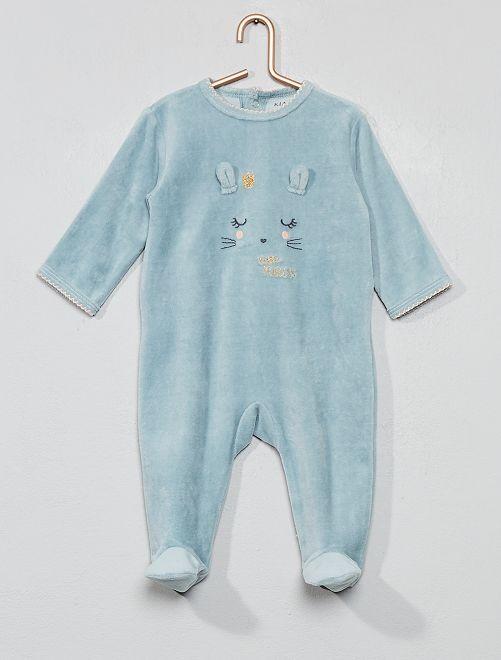 Pijama con detalle de 'conejo'                                                                     Azul