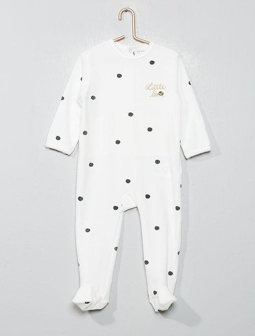 Pijama con detalle de 'conejo'                                                                 blanco Bebé niña