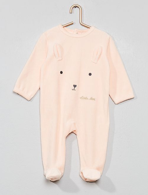 Pijama con detalle de 'conejo'                                         Rosa