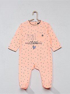 Niña 0-36 meses - Pijama con estampado de 'corazón' - Kiabi