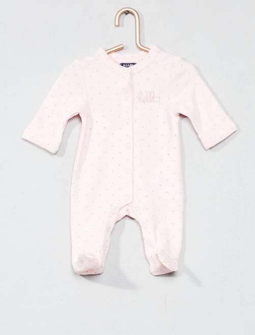 Pijama con estampado de 'estrellas'                                         rosa pastel