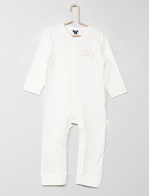 Pijama con estampado de 'piña'                                         BLANCO Bebé niña