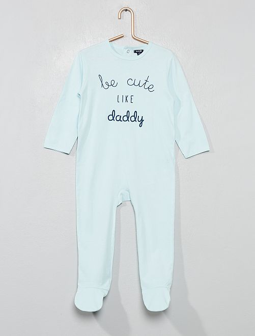 Pijama con 'mensaje' estampado                                         AZUL Bebé niño