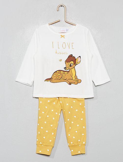 Pijama con parte de arriba de terciopelo 'Disney'                                         BLANCO