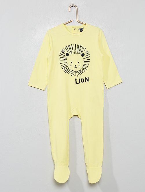 Pijama con pies                                                                             AMARILLO