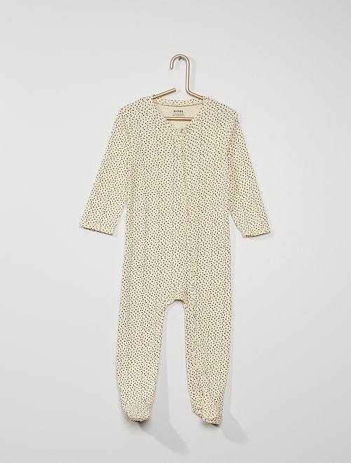 Pijama con pies antideslizantes                                                                 BEIGE