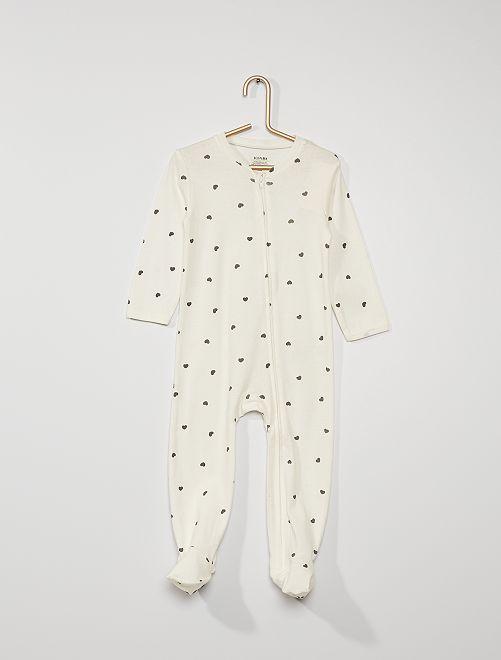 Pijama con pies antideslizantes                                                                 BLANCO