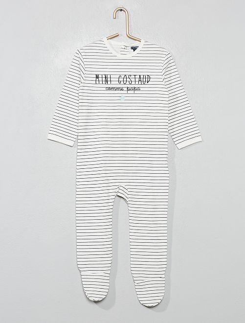 Pijama con pies                                                                 BLANCO