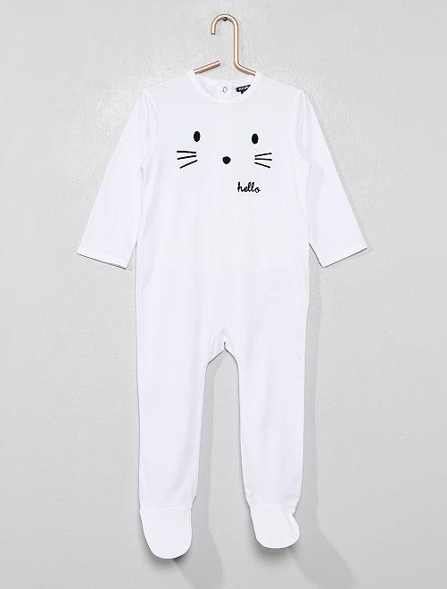 Pijama con pies                                                                             BLANCO Bebé niño