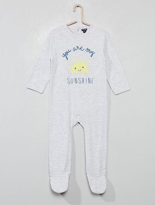 Pijama con pies                                                                             GRIS Bebé niño