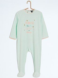 Niña 0-36 meses - Pijama con pies y estampado animal - Kiabi