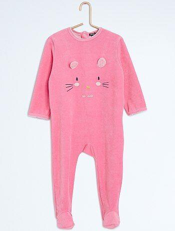 Pijama con pies y estampado animal - Kiabi