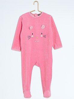 Pijamas - Pijama con pies y estampado animal - Kiabi