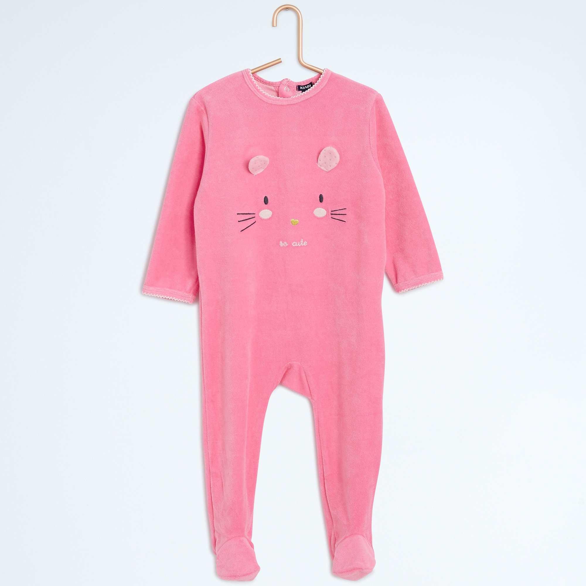 186650369 Pijama con pies y estampado animal Bebé niña - rosa - Kiabi - 10