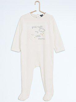 Niña 0-36 meses - Pijama con pies y estampado de noche - Kiabi