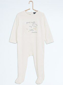 Niña 0-36 meses Pijama con pies y estampado de noche