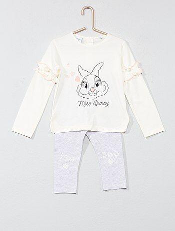 Pijama con volantes 'Conejita' - Kiabi
