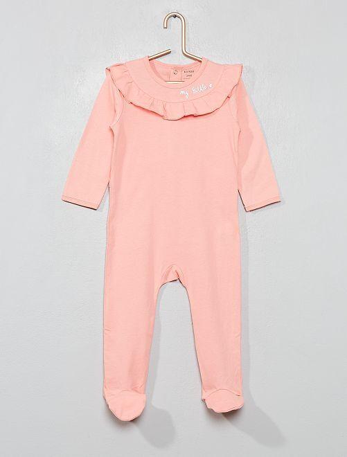 Pijama con volantes                                         rosa Bebé niña