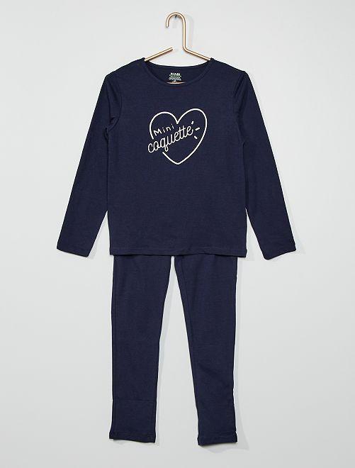 Pijama 'corazón'                                                                                         NEGRO