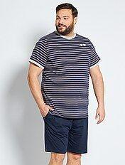 Pijamas Cortos Tallas Grandes Hombre Talla 6xl Kiabi