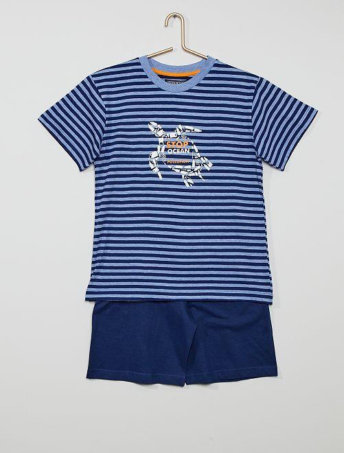 Pijama corto                                         azul/marino