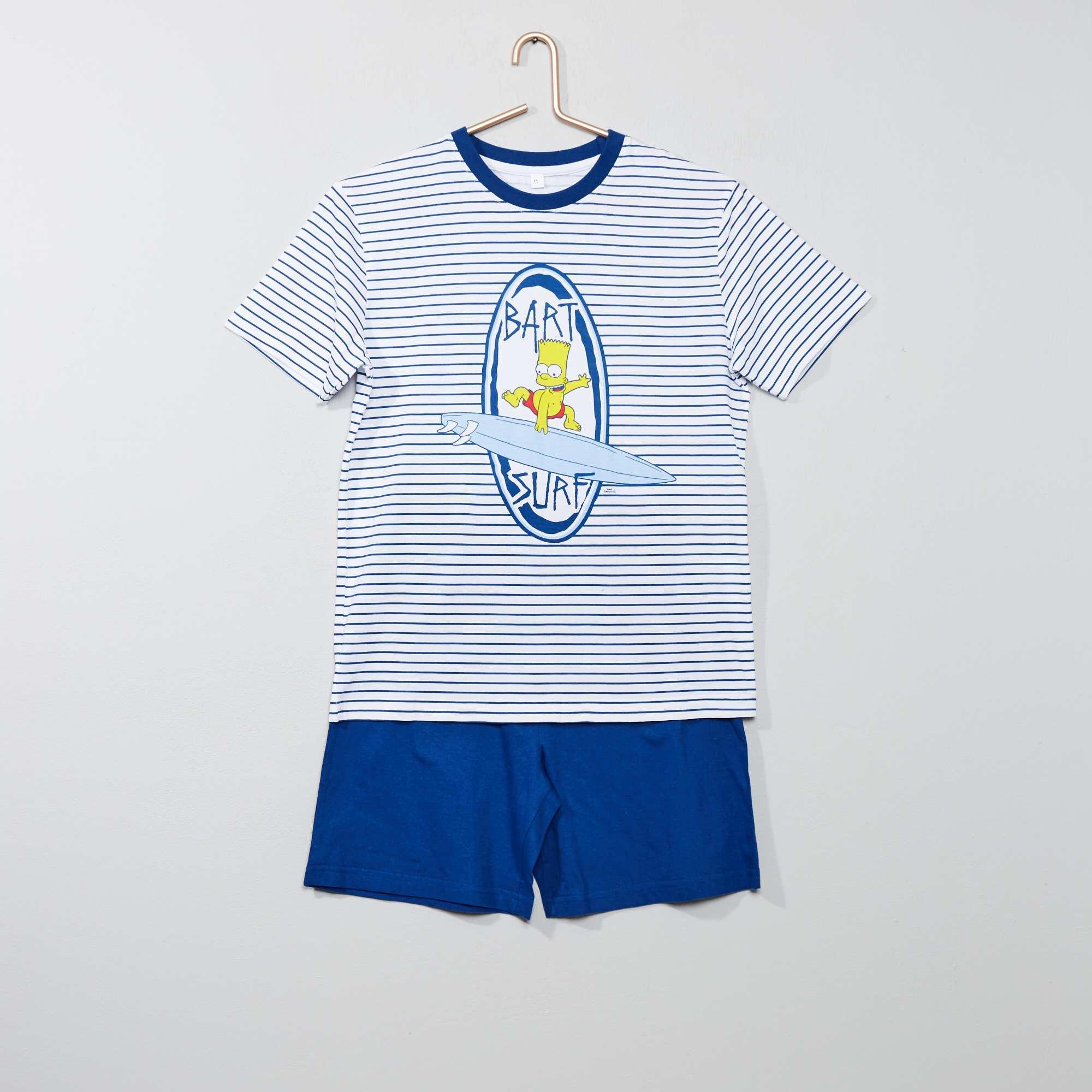 de61845c8 Pijama corto  Bart   Los Simpson  Joven niño - azul blanco - Kiabi ...