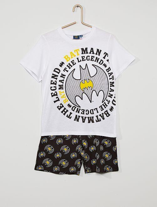 Pijama corto 'Batman'                                         blanco/negro