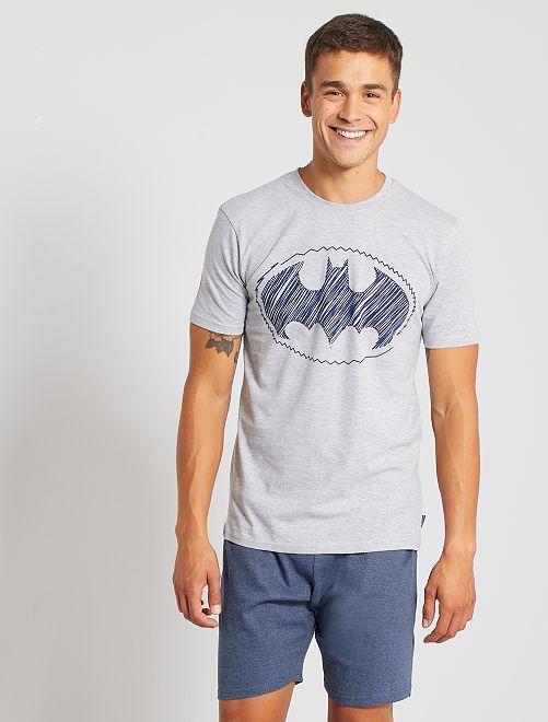 Pijama corto 'Batman'                             gris/azul