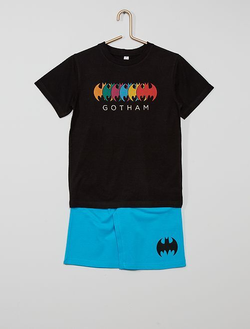 Pijama corto 'Batman'                             negro/azul