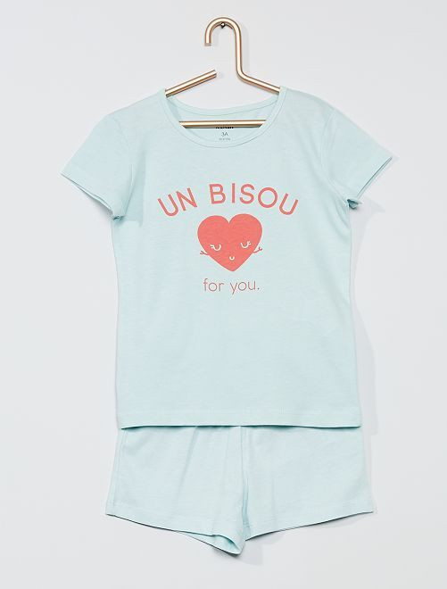 Pijama corto 'beso'                                                     ROSA