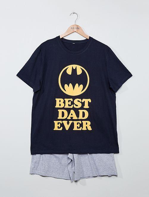 Pijama corto 'Best dad ever' 'Batman'                             PURPURA