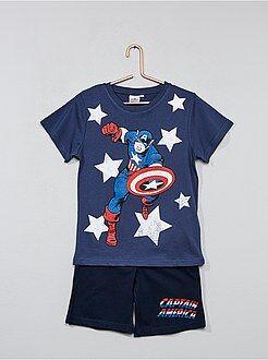 Pijamas - Pijama corto 'Capitán América' - Kiabi