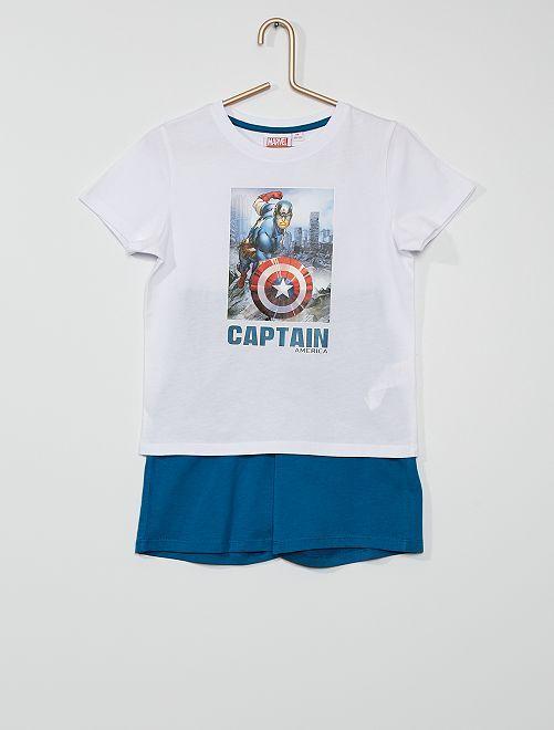 Pijama corto 'Capitán América'                             blanco/AZUL