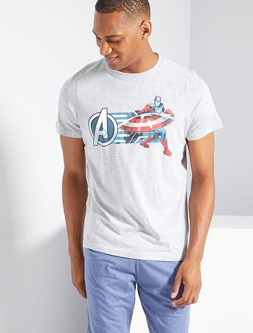 Pijama corto 'Capitán América'                                         GRIS