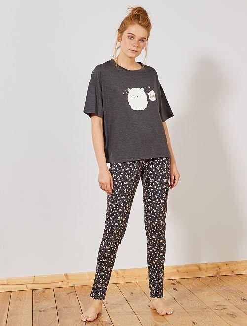 Pijama corto                     carnero
