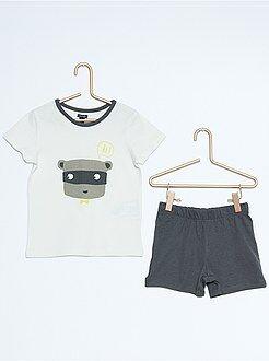 Niño 0-36 meses Pijama corto con estampado de fantasía