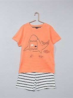 Pijamas - Pijama corto con estampado de fantasía - Kiabi