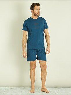 Hombre - Pijama corto de algodón - Kiabi