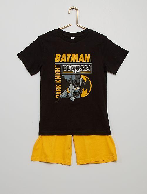 Pijama corto de algodón 'Batman'                             NEGRO