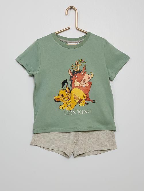 Pijama corto de algodón 'El Rey León' 'Disney'                             gris/amarillo