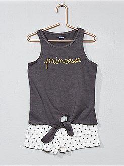 Pijamas - Pijama corto de algodón - Kiabi