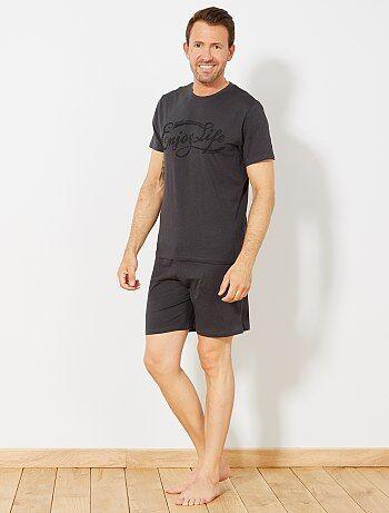 Pijama corto de algodón - Kiabi