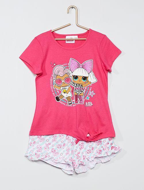Pijama corto de algodón 'Lol Surprise'                                         fucsia