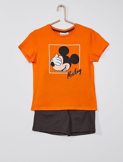 Pijama corto de algodón 'Mickey' 'Disney'                             NARANJA